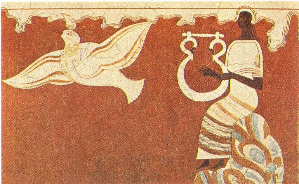 Певец с лирой (фреска из дворца в Пилосе)
