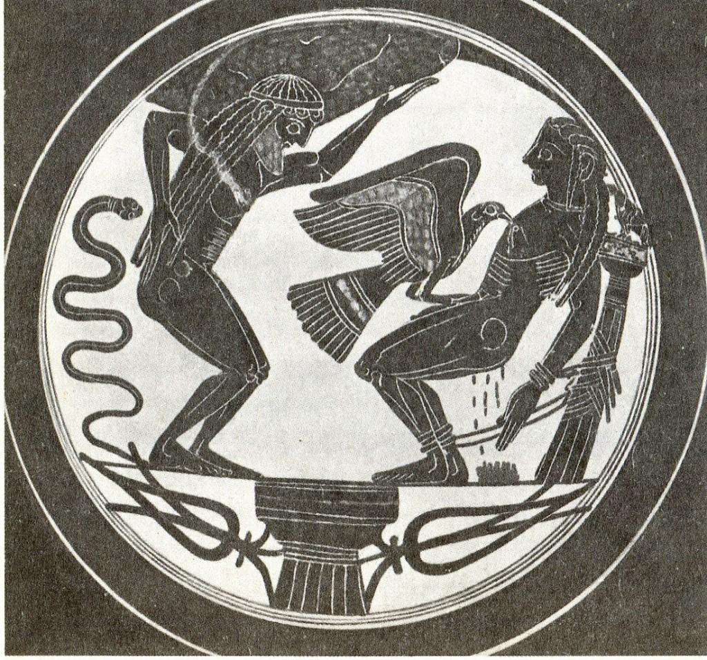 рисунок прометей на вазе и атлант