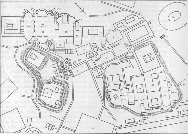 План Римского форума