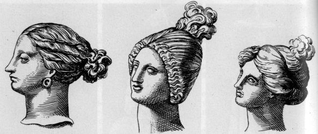Женская прическа в древней греции