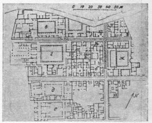 Генеральный план части города а