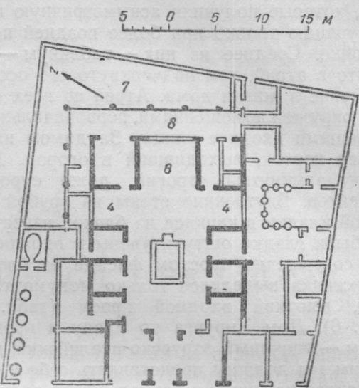 План дома Саллюстия в Помпеях