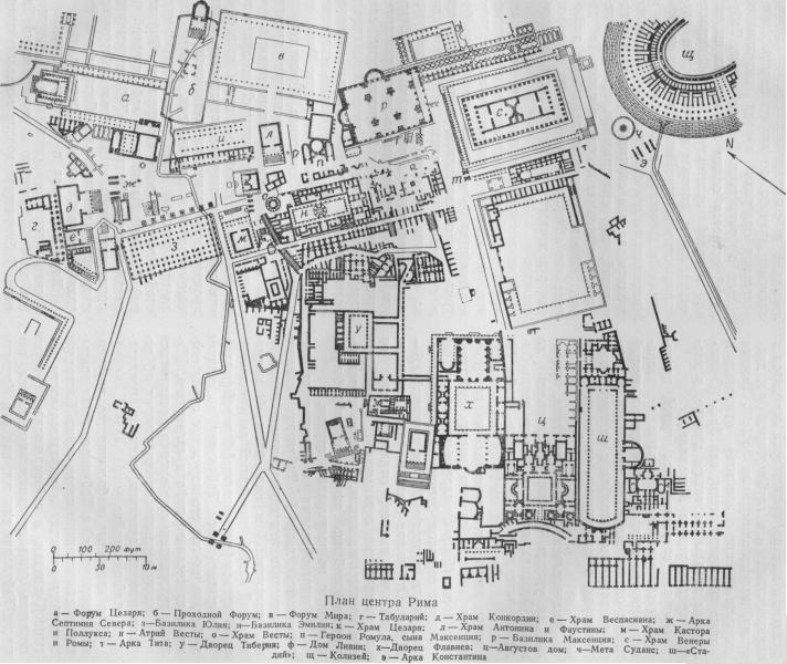 Римский форум план схема
