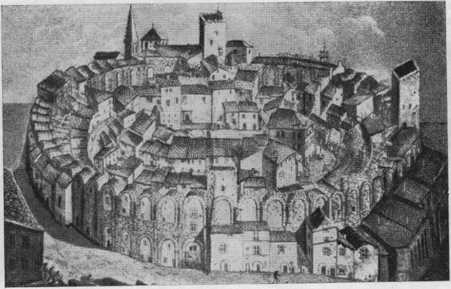 Средневековый город внутри