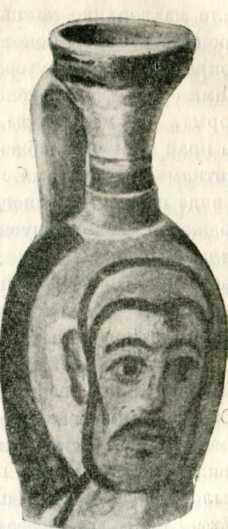 Полихромный сосуд с изображением мужской головы. III в. до н. э. (Одесский музей).