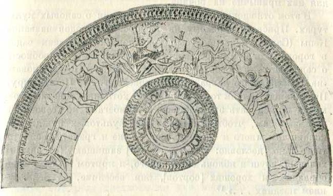 Изображение мукомольного производства на беотийской эллинистической чаше.