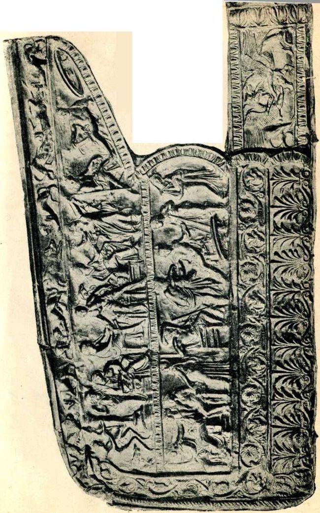 Золотая обивка горита из Чертомлыцкого кургана. Начало IV в. до н. э.