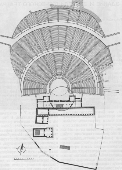 План театра Диониса в Афинах