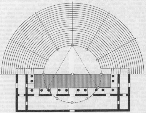 Витрувий. План римского театра