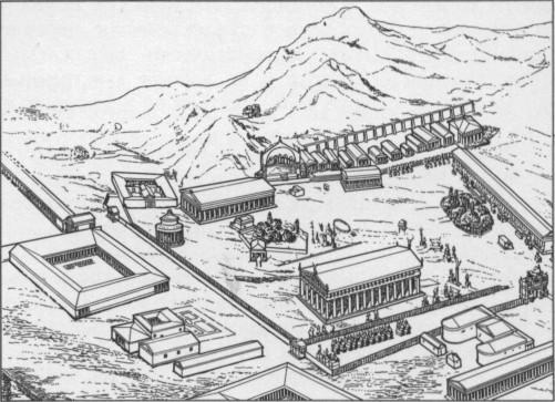 Святилище в Олимпии.